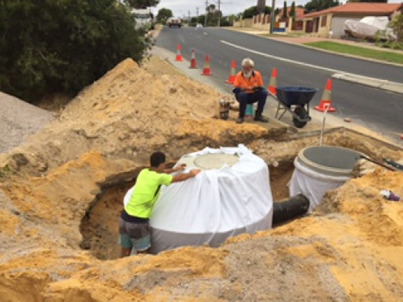 Stormwater Piping in Soakwell Installation Perth