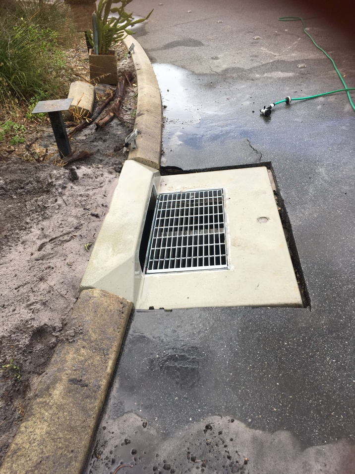 installed storm water drainage tanks