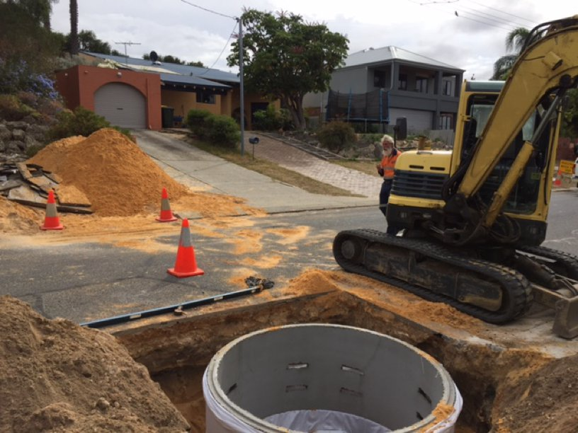 Soakwells Perth Installed in Perth Residential Street