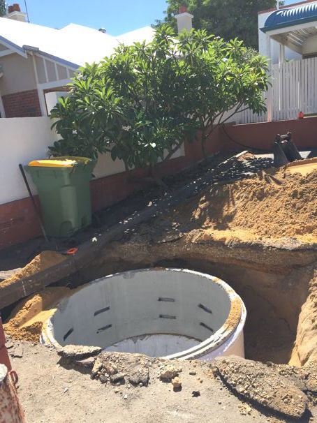Stormwater Installation Perth concrete soakwell