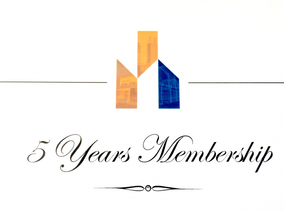 MASTER BUILDERS AWARD 5 YEARS