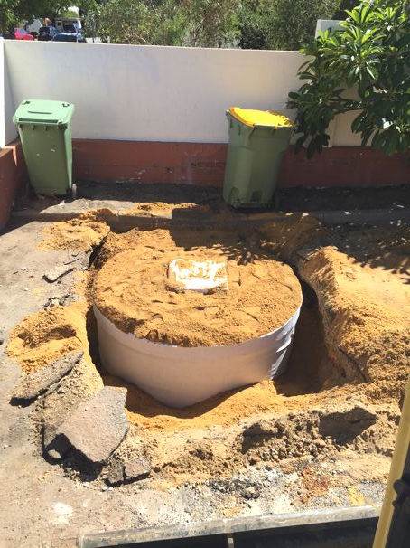 Stormwater Installation Perth excavated with stormwater tank