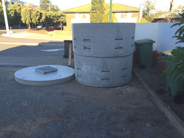 Concrete soakwell on site in perth, Western Australia